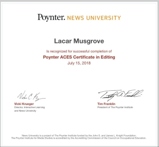 Poynter ACES Certificate in Editing